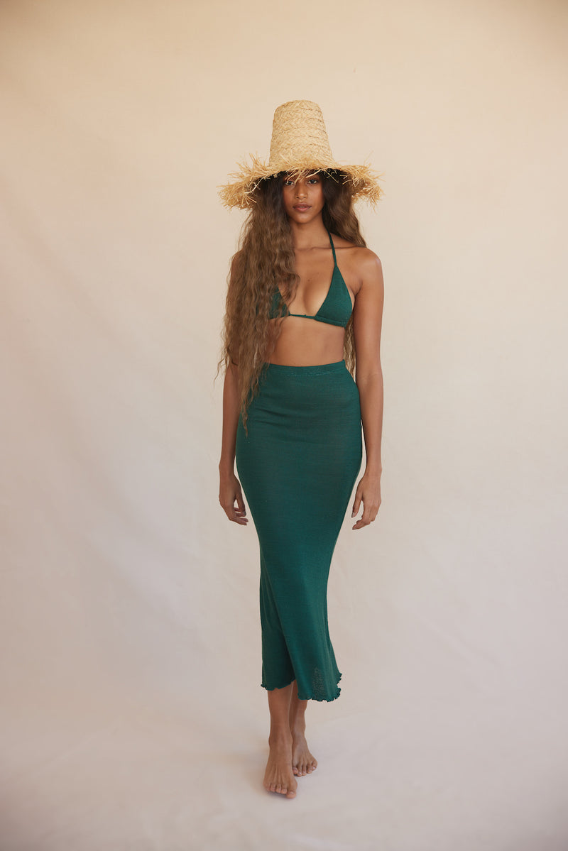 Irini Knit Skirt - Emerald