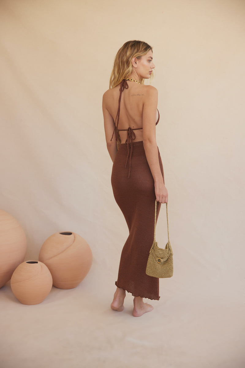Irini Knit Skirt - Bronze