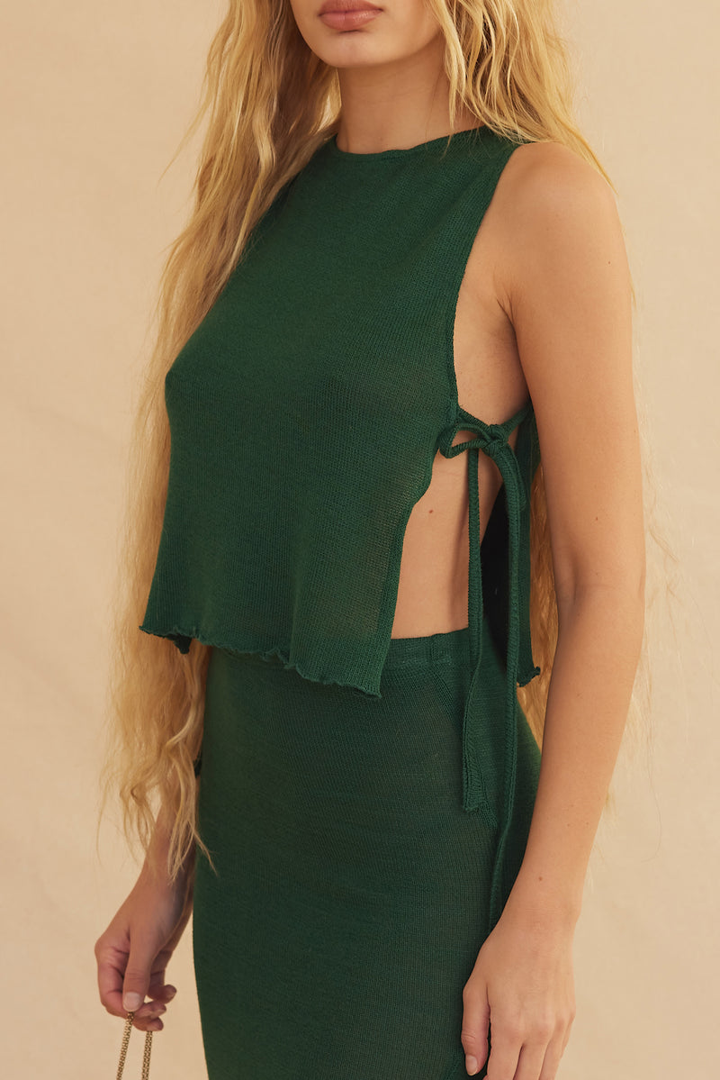Ava Knit Top - Emerald