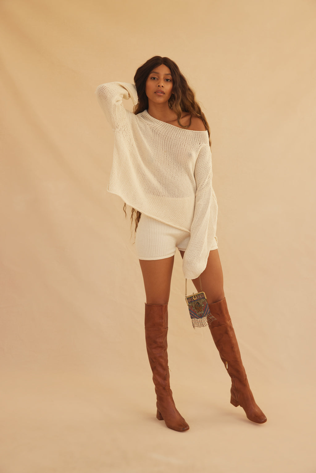Organic Knit Sweater - Cream