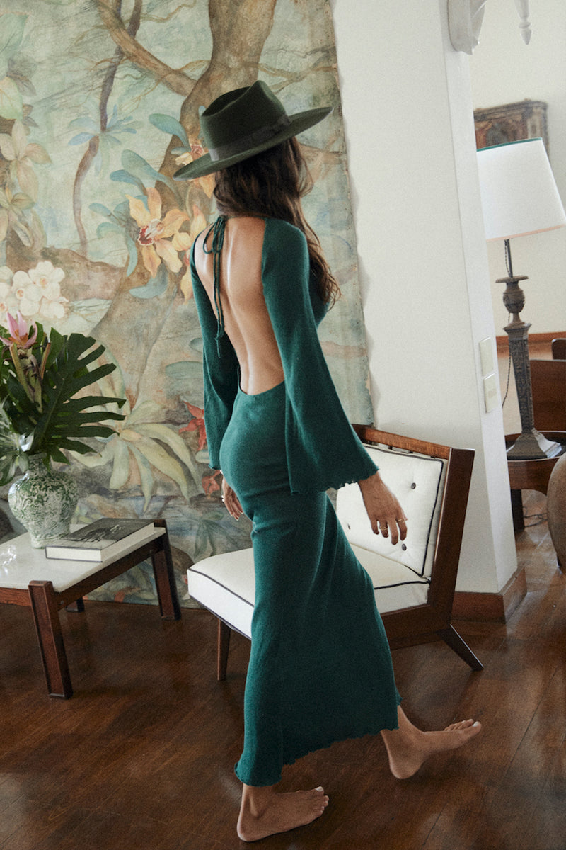 Harmony Knit Dress - Emerald
