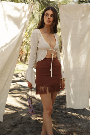 Jasmine Knit Skirt - Bronze