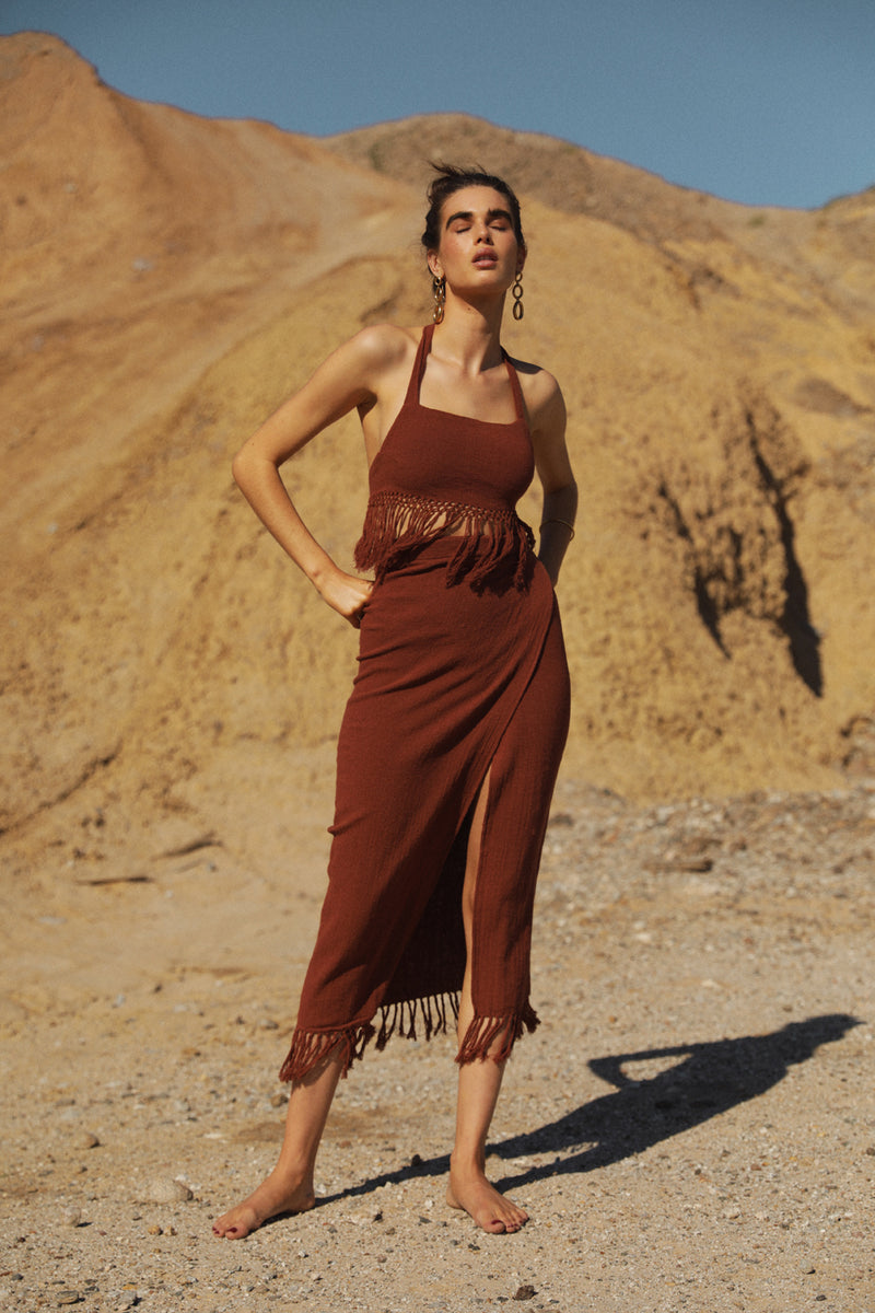 Desert Knit Skirt - Bronze
