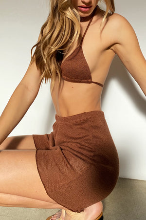 Cora Knit Short - Bronze