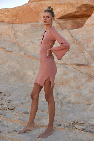 Yara Knit Dress - Rose