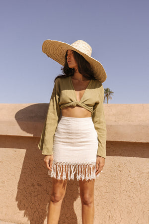 Jasmine Knit Skirt - Natural