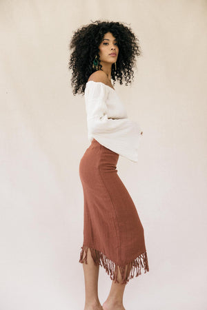 Vita Knit Skirt - Bronze