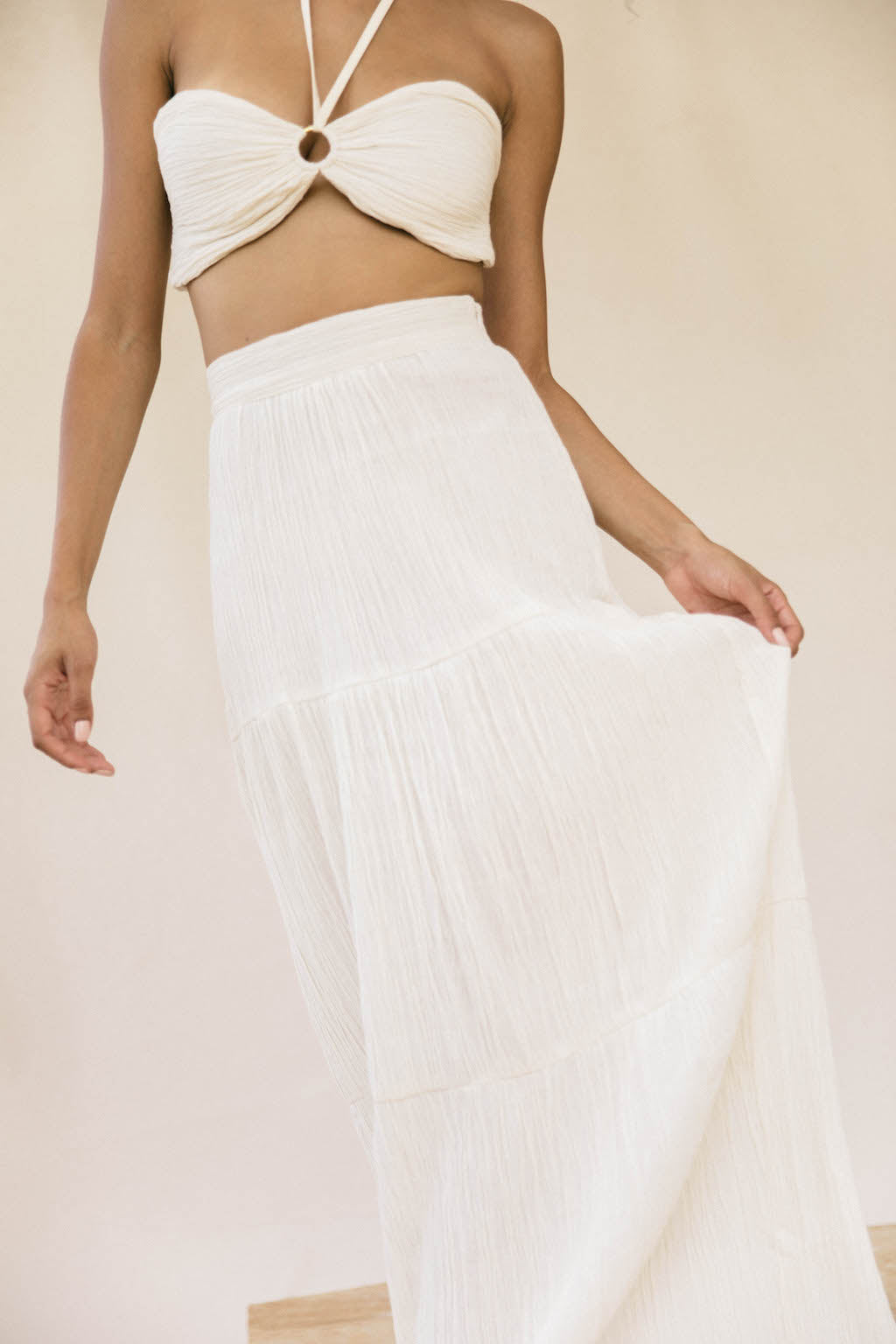 Pia Skirt Organic Cotton - Cream