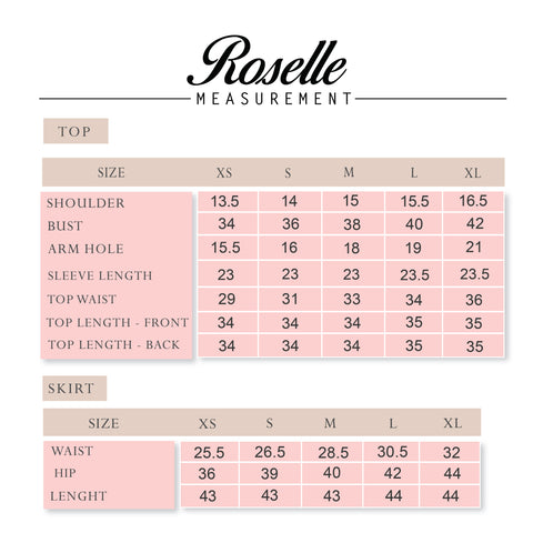 Roselle Luxe measurement
