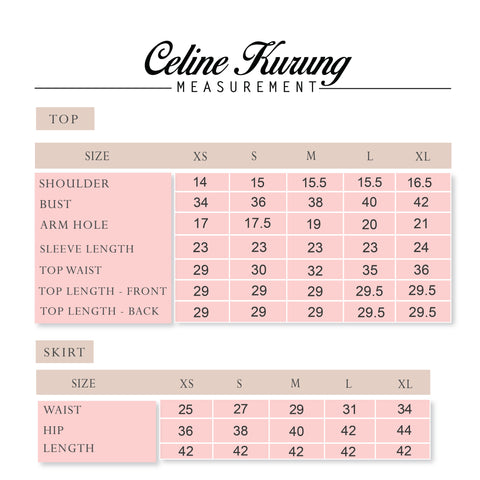 Celine Kurung measurement