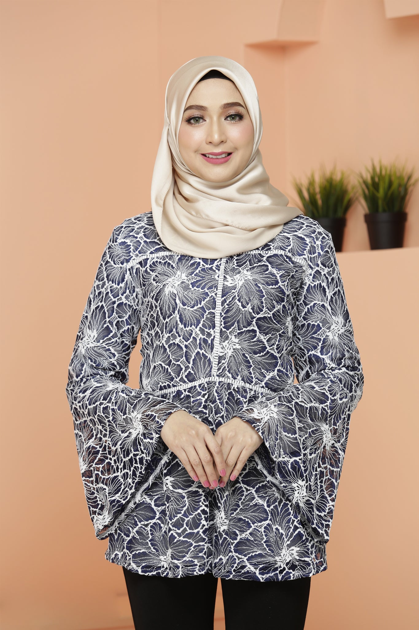 Lacy Blouse Blue Lagoon