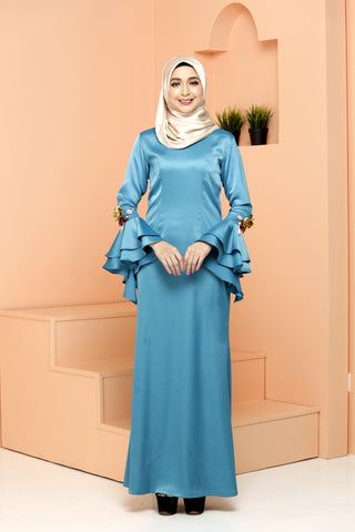 Fiona Dress Turquoise