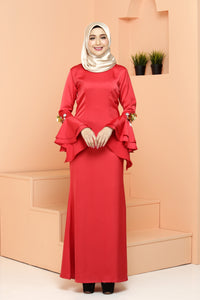 Fiona Dress Red