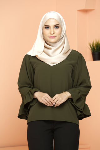 Lavisa Blouse Green Moss