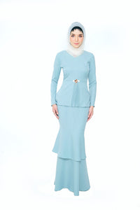 Aqasha Kurung Dusty Green