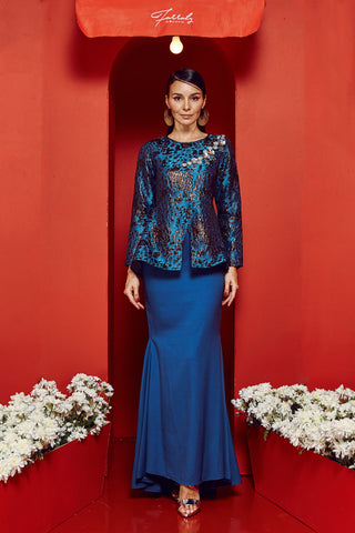 Chempaka Kurung Blue Mermaid