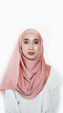 Sateen Eyelash Shawl Rose Gold