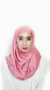 Sateen Eyelash Shawl Rose