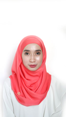 Sateen Eyelash Shawl Melon