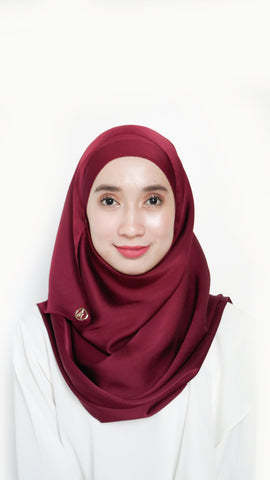 Sateen Eyelash Shawl Maroon