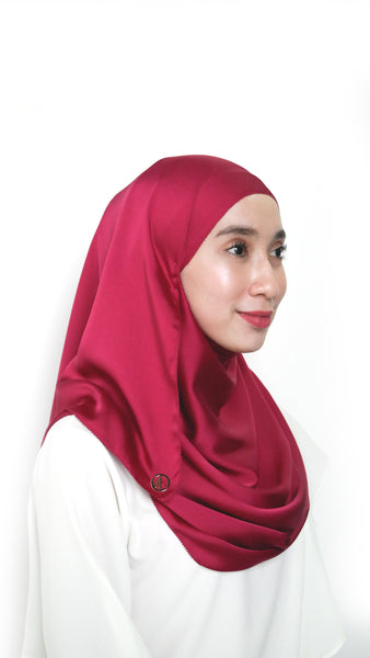 Sateen Eyelash Shawl Burgundy