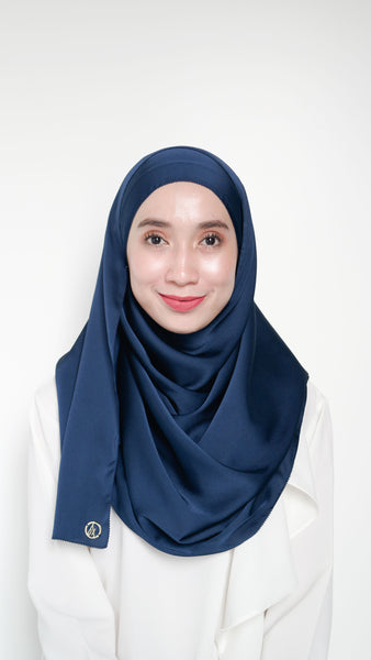 Sateen Eyelash Shawl Navy Blue