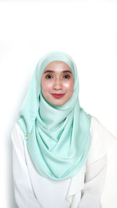 Sateen Eyelash Shawl Mint