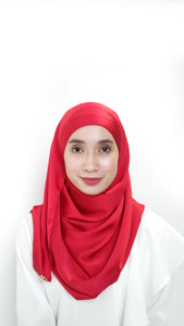 Sateen Eyelash Shawl Blood Red