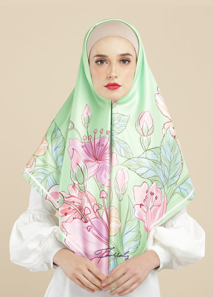 Floriane Scarf Green Lily