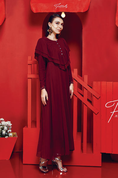 Dahlia Dress Maroon