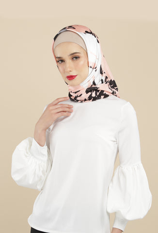 Rania Scarf Black Splash