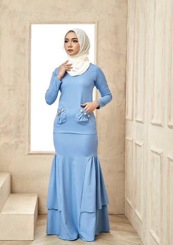 Isabell Kurung Dusty Blue
