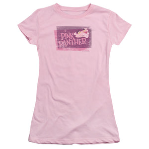 Pink Panther - Distressed Short Sleeve Junior Sheer