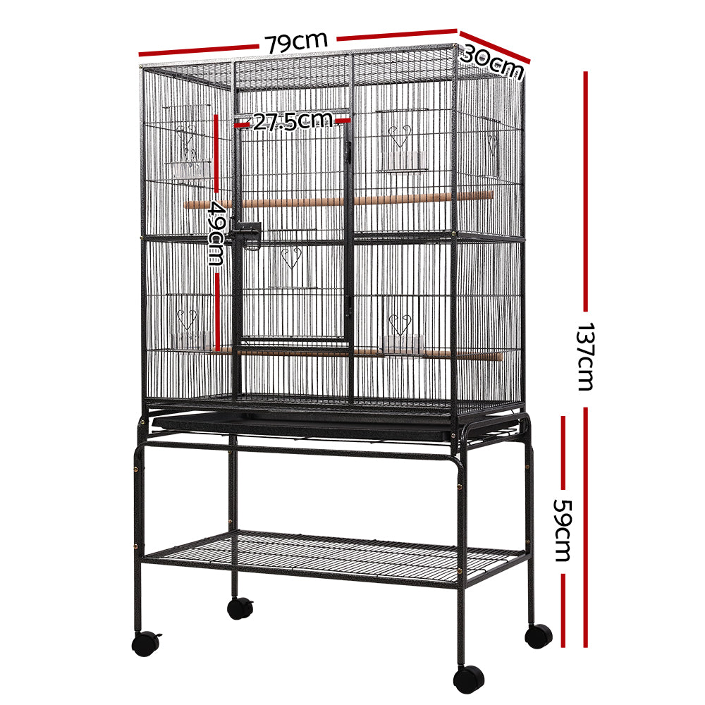 ipet bird cage with perch 140cm specs