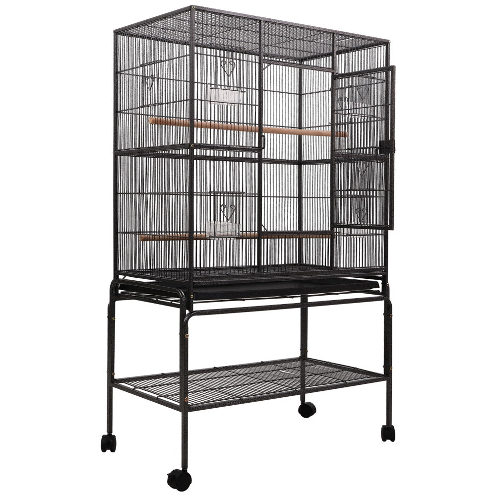 ipet bird cage with perch 140cm latch closeup