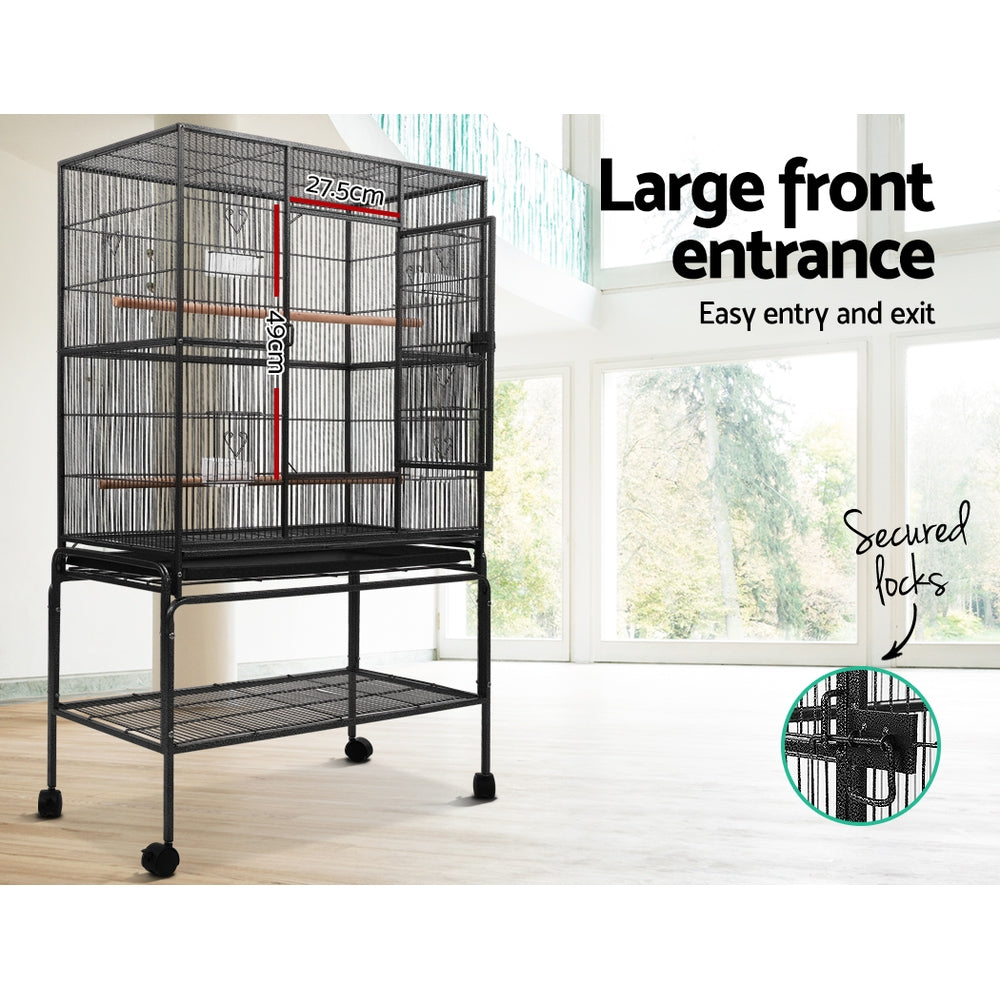 ipet bird cage with perch 140cm side view