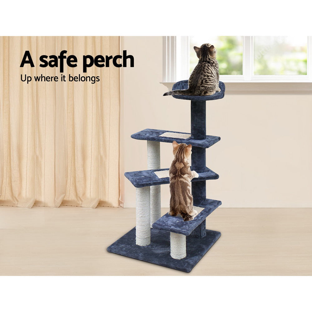 i.Pet 100cm Grey 3-Step Tree