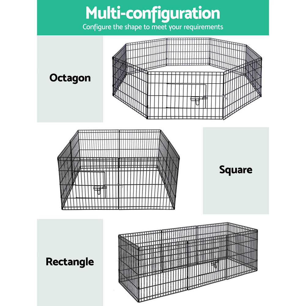 ipet small 8 panel playpen open front door