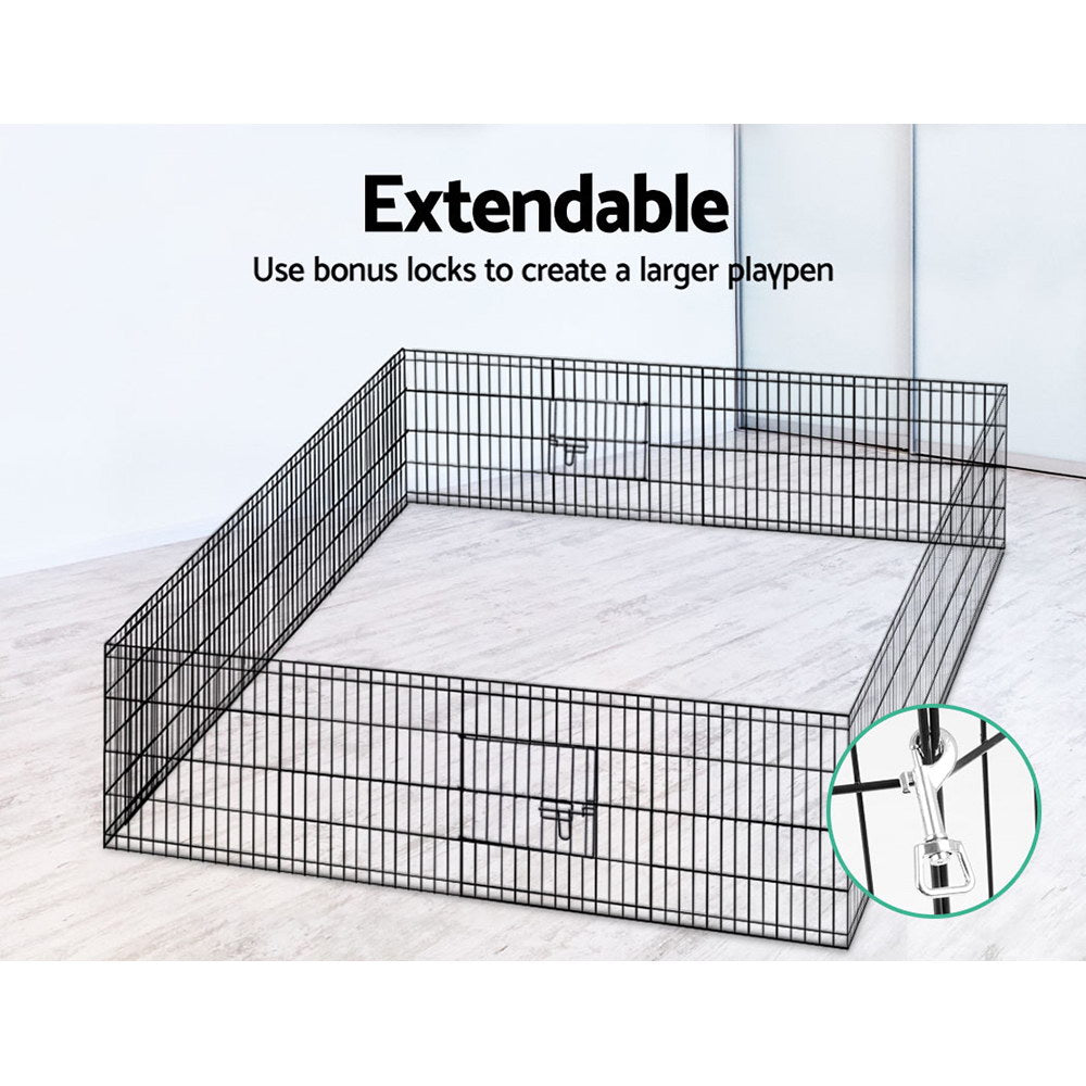 ipet small 8 panel playpen rectangular assembly