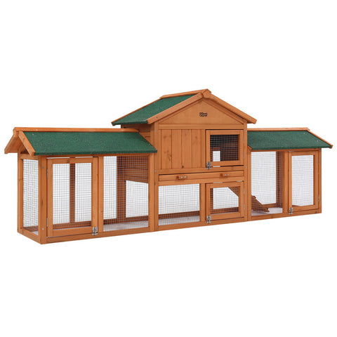 i.Pet Small Animal Hutch/Chicken Coop w/ Large Metal Run