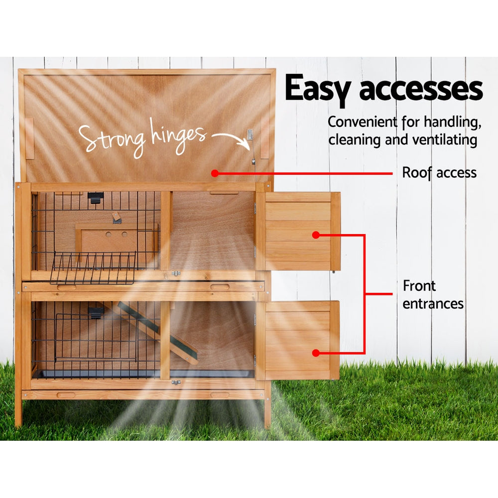 ipet duplex double storey rabbit hutch back