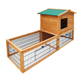 ipet spunky double storey small animal hutch with under run