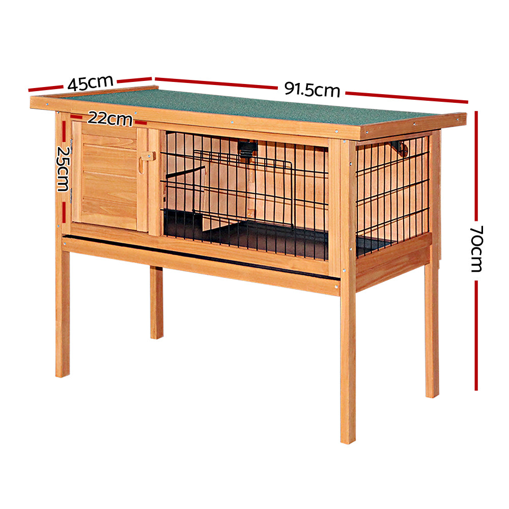 i.Pet Poppy - Rabbit Hutch w/ Hinged Lid