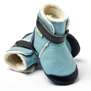 Leather Boots - Himalaya Blue