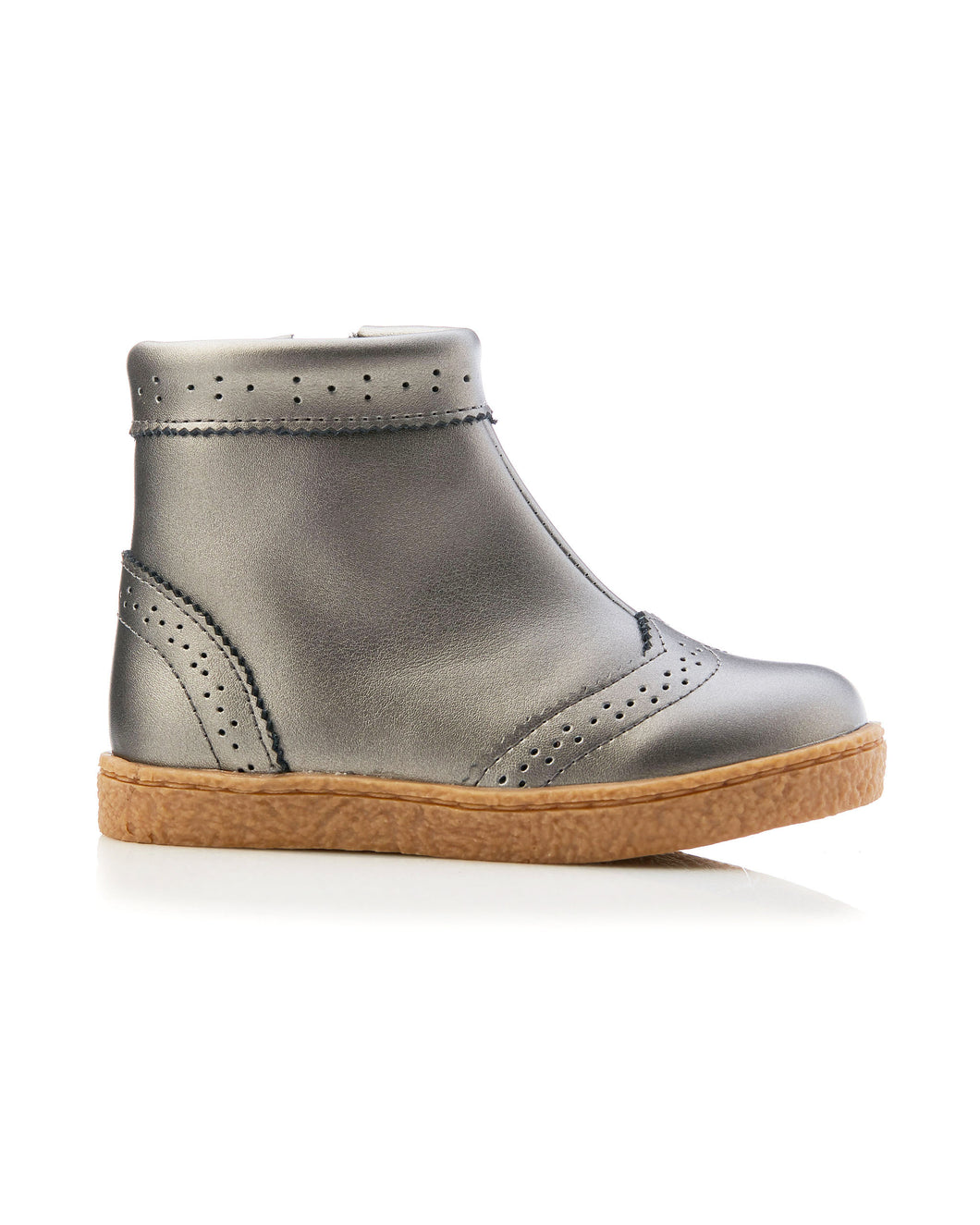 Lulu Leather Boot - Pewter
