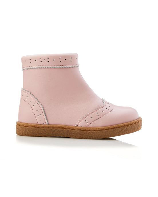 Lulu Leather Boot - Pink