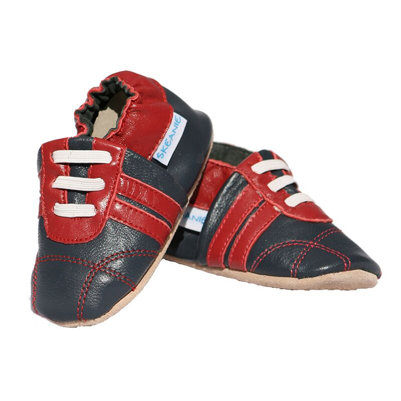 Prewalker Sneakers - Navy & Red
