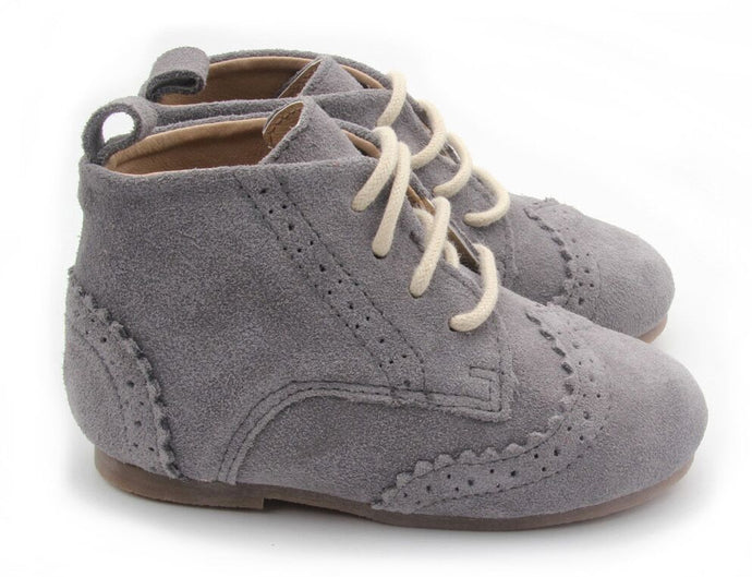 Cambridge Boot - Charcoal Suede