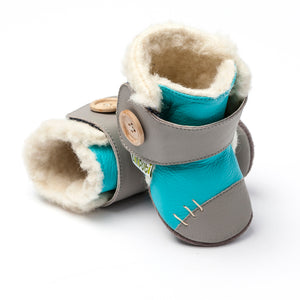 Leather Boots - Arctic Turquoise