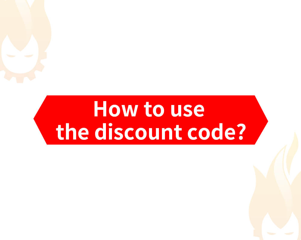 How to use the discount code?